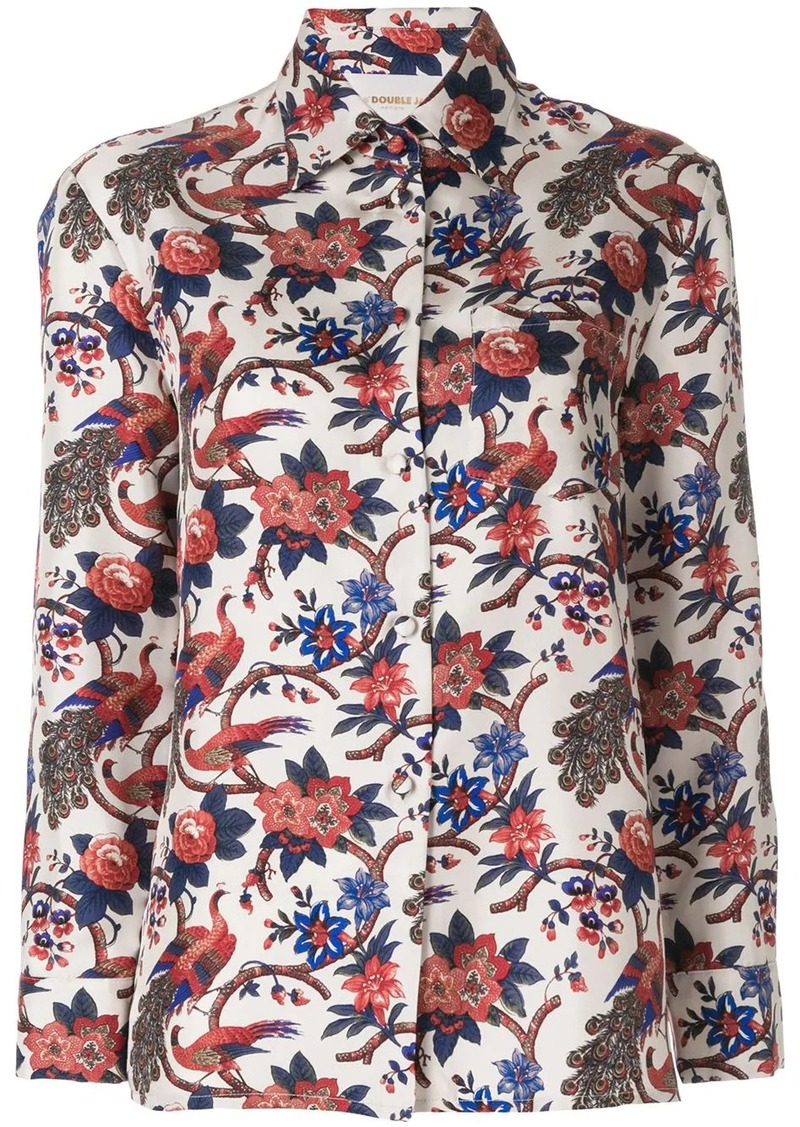 La Doublej garden print shirt