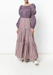 La Doublej geometric print blouse