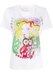 La Doublej Goddess Athena Placed print T-Shirt