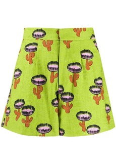 La Doublej Good Butt cactus-print shorts