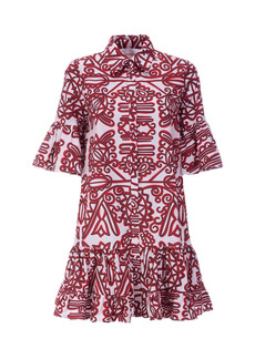 La DoubleJ - Women's Choux Ruffled Printed Cotton Mini Dress - Print - Moda Operandi