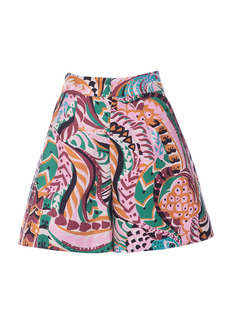 La DoubleJ - Women's Good Butt Printed Silk Wide-Leg Shorts - Print - Moda Operandi