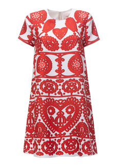 La DoubleJ - Women's Mini Swing Printed Silk Dress - Print - Moda Operandi