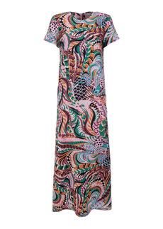 La DoubleJ - Women's Swing Printed Silk Maxi Dress - Print - Moda Operandi