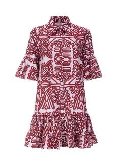 La DoubleJ Choux Ruffled Printed Cotton Mini Dress