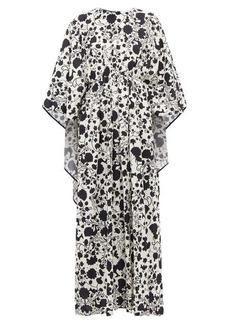 La DoubleJ Circe Himsez-print maxi kaftan dress