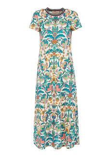 La DoubleJ Sporty Swing Printed Cotton Midi Dress