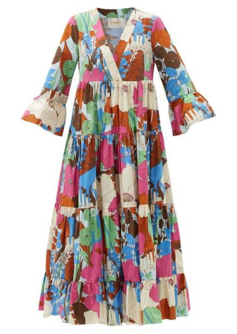 La DoubleJ Jennifer Jane floral-print cotton midi dress