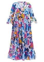 La DoubleJ Jennifer Jane Luna Park-print cotton dress