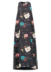 La DoubleJ Juno Giardino Nero-print faille dress