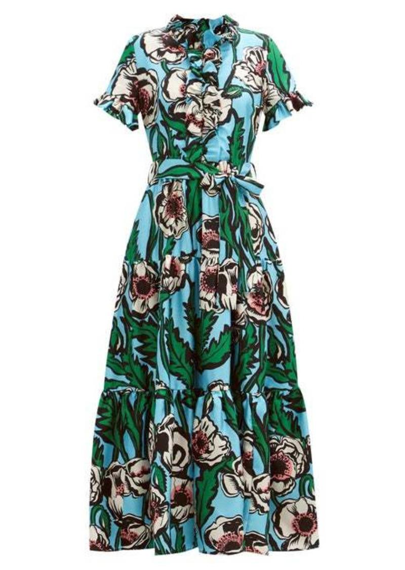 La DoubleJ Long and Sassy floral-print silk-twill maxi dress