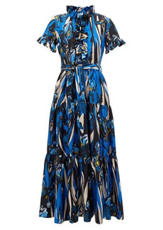 La DoubleJ Long and Sassy ruffled floral-print dress