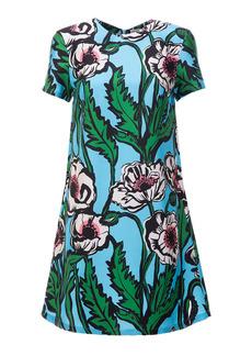 La DoubleJ Mini Swing Floral Silk Dress