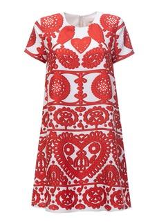 La DoubleJ Mini Swing Printed Silk Dress