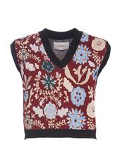 La DoubleJ Printed Boxy Knit Sweater Vest