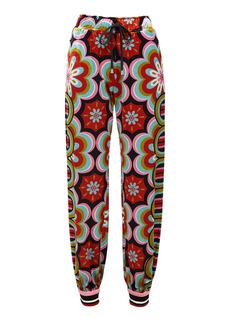 La DoubleJ Printed Cotton Sweatpants