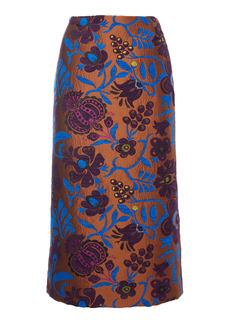 La DoubleJ Printed Jacquard Pencil Skirt