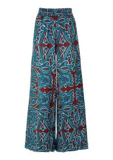 La DoubleJ Printed Silk Palazzo Pants