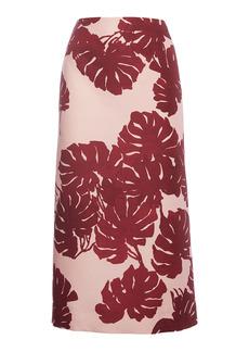 La DoubleJ Printed Wool-Blend Pencil Skirt