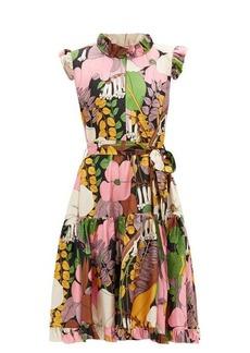 La DoubleJ Short & Sassy floral-print silk dress