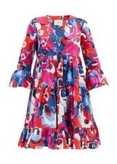 La DoubleJ Short Jennifer Jane Big Flower-print cotton dress
