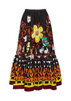 La DoubleJ Sunset Printed Cotton Skirt