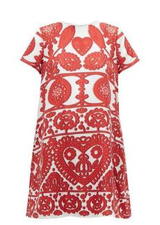 La DoubleJ Swing embroidery-print silk dress