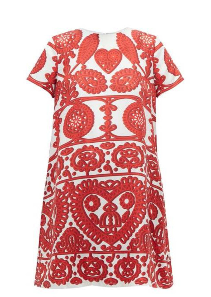 La DoubleJ Swing embroidery-print silk dress