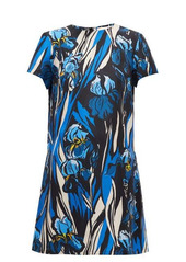 La DoubleJ Swing peony-print silk dress