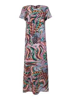 La DoubleJ Swing Printed Silk Maxi Dress