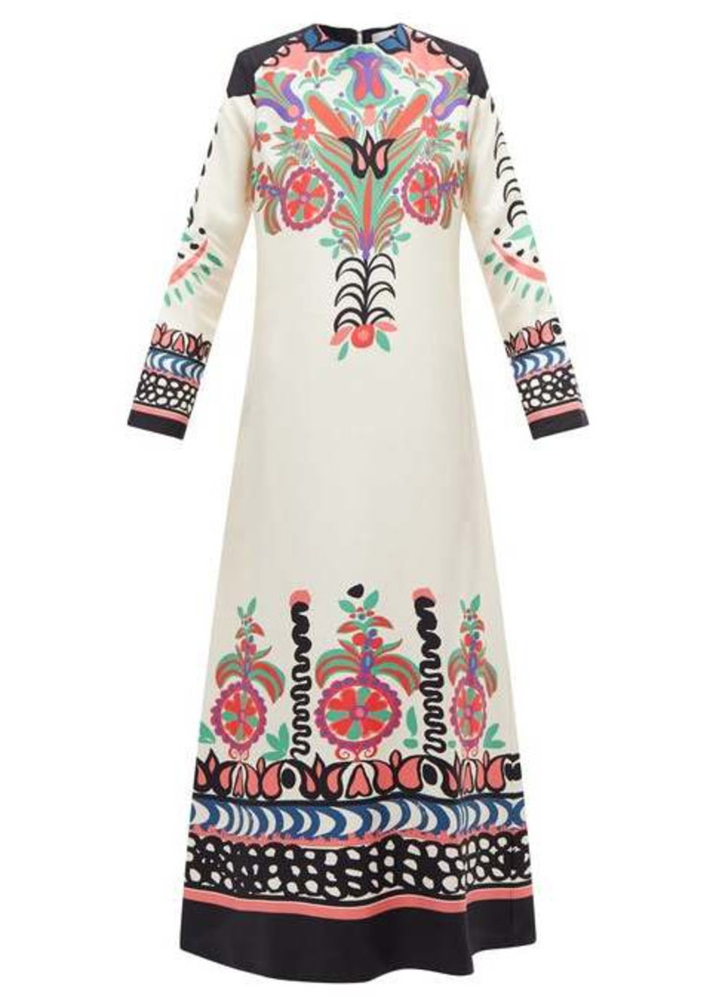 La DoubleJ Swing printed twill dress