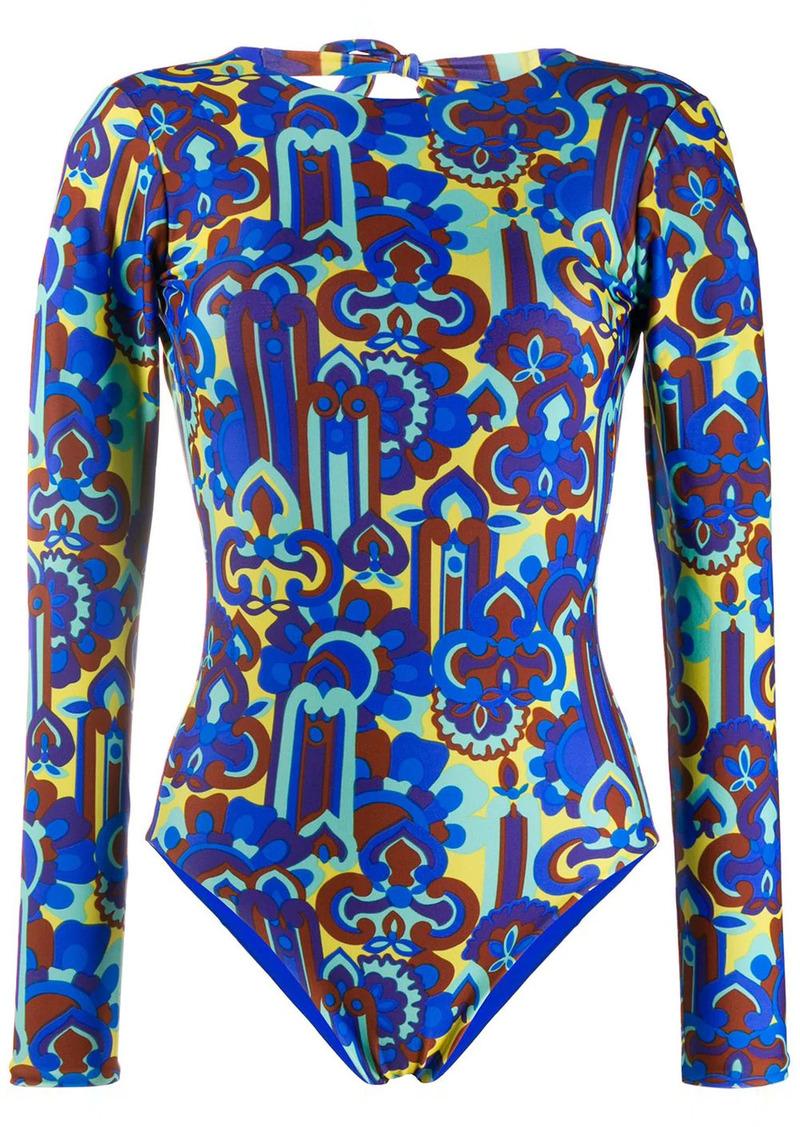 La Doublej Lisboa longsleeved swimsuit