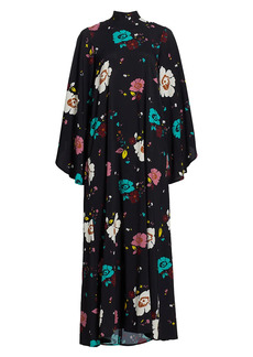 La Doublej Magnifico Floral Long-Sleeve Maxi Dress