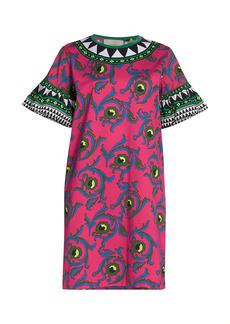 La Doublej Mixed Print Shift Dress