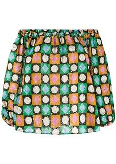 La Doublej Paloma geometric-pirn blouse