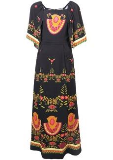 La Doublej printed bat wings dress