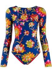 La Doublej reversible floral print surf suit