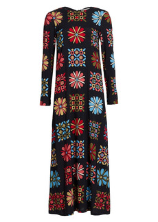 La Doublej Sable Long Sleeve Swing Maxi Dress