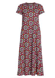 La Doublej Tile Print Swing Midi Dress
