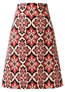 La Doublej vintage print a-line skirt
