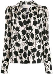 La Doublej x Mantero Viola Moses print blouse