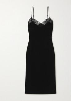 La Perla Corded Lace-trimmed Silk-blend Nightdress