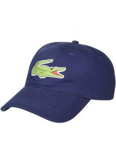 Lacoste Big Croc Twill Leatherstrap Cap