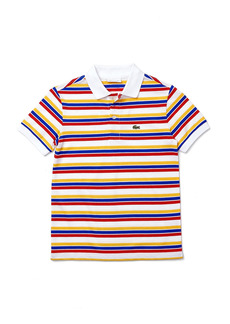 Lacoste Kids' Tricolor Stripe Piqué Polo (Baby, Toddler, Little Boy & Big Boy)