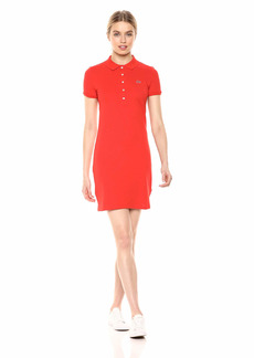 Lacoste Women's Classic Short Sleeve Stretch Mini Pique Polo Dress SALVIA