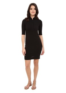Lacoste Women's Half Sleeve Stretch Pique Polo Dress Black