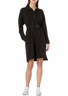 Lacoste Womens Long Sleeve Polo Dress Casual Dress  M