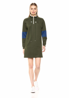 Lacoste Women's L/S Neoprene Dress W/Pockets Caper Bush/Inkwell/geode