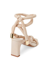 Lafayette 148 Delphine Ankle-Wrap Padded Leather Sandals