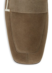 Lafayette 148 Eve Square-Toe Suede Loafers